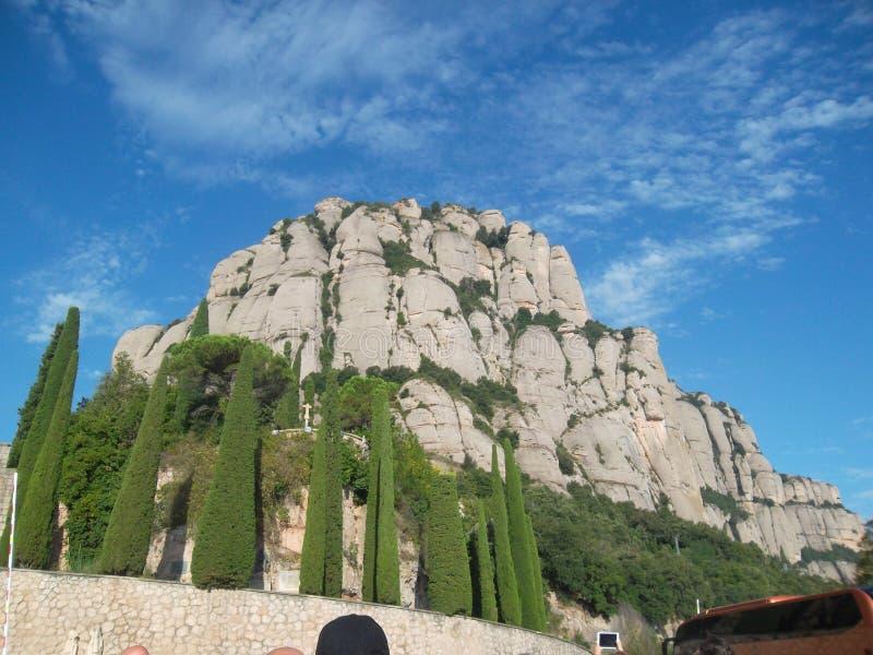Βουνό Καταλωνία Ισπανία του Μοντσερράτ στοκ εικόνα με δικαίωμα ελεύθερης χρήσης