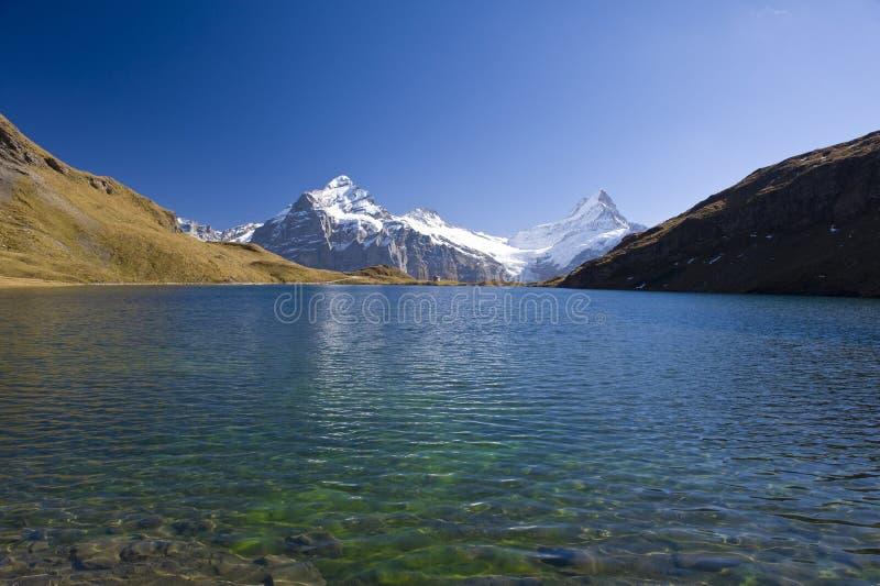 βουνό λιμνών bachalpsee grindelwald πλησίον στοκ εικόνες με δικαίωμα ελεύθερης χρήσης