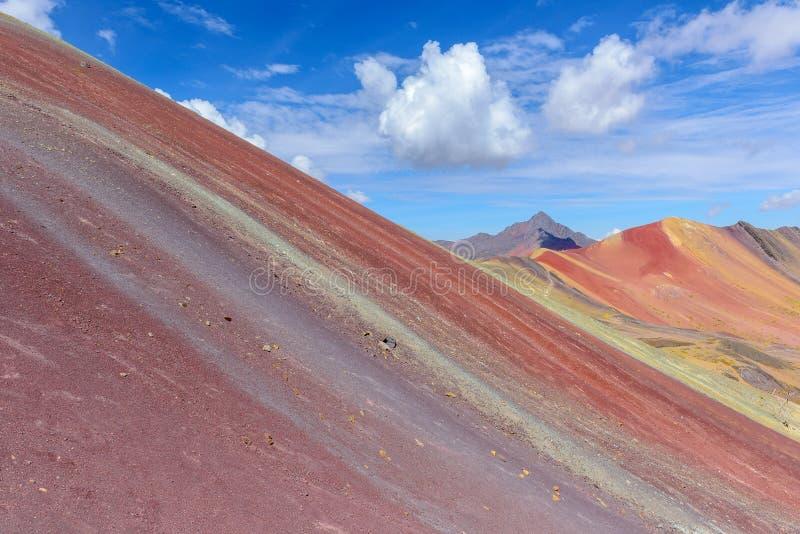 Βουνό ουράνιων τόξων, κοντά σε Cusco, Περού στοκ φωτογραφία με δικαίωμα ελεύθερης χρήσης