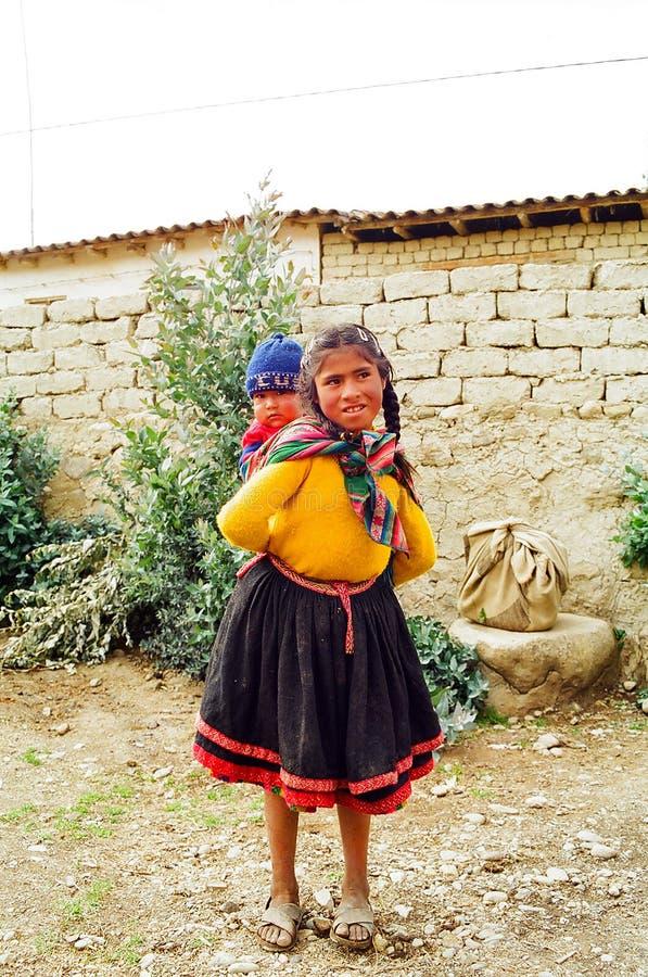 βουνό Περού παιδιών στοκ εικόνα