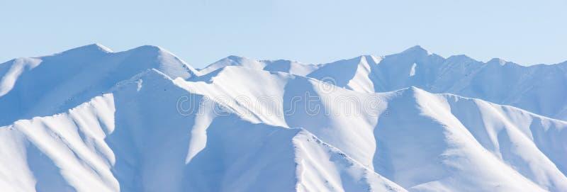 Βουνό, πρωί, χειμώνας, τοπίο χιονιού στοκ εικόνα