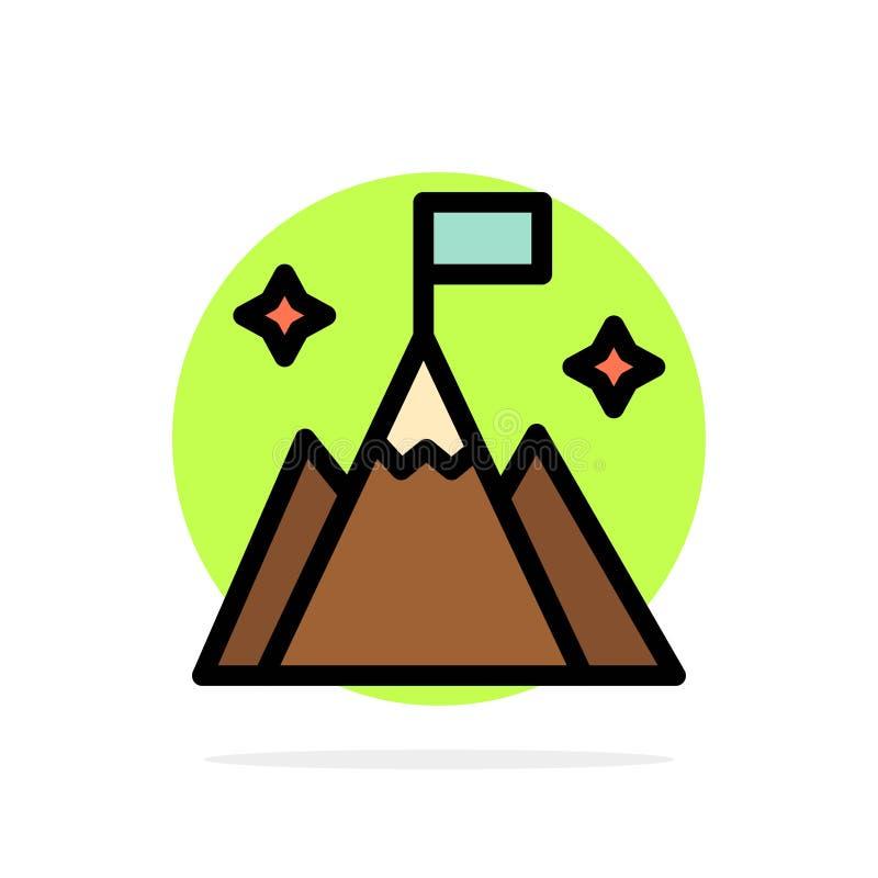 Βουνό, σημαία, χρήστης, διεπαφών αφηρημένο κύκλων εικονίδιο χρώματος υποβάθρου επίπεδο απεικόνιση αποθεμάτων