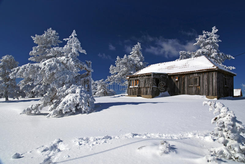 βουνό σπιτιών στοκ φωτογραφία