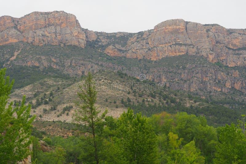 Βουνό στην οροσειρά del montseny στοκ φωτογραφία