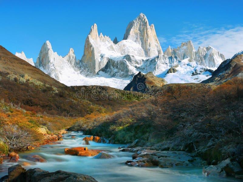 Βουνό της Fitz Roy, EL Chalten, Παταγωνία, Αργεντινή στοκ εικόνες