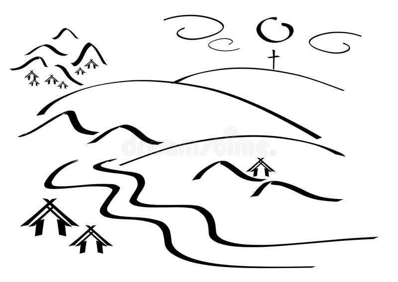 βουνό τοπίων απλό ελεύθερη απεικόνιση δικαιώματος