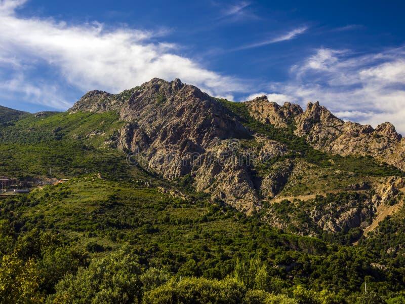 βουνό τοπίων gennargentu στοκ φωτογραφίες