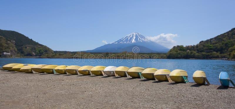 Βουνό Φούτζι και λίμνη Shoji στοκ φωτογραφίες με δικαίωμα ελεύθερης χρήσης