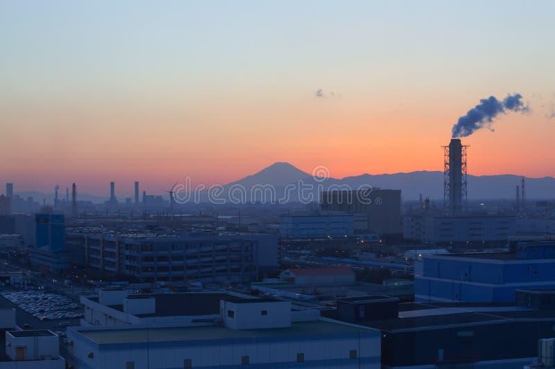 Βουνό Φούτζι και ζώνη βιομηχανίας της Ιαπωνίας στοκ εικόνες με δικαίωμα ελεύθερης χρήσης