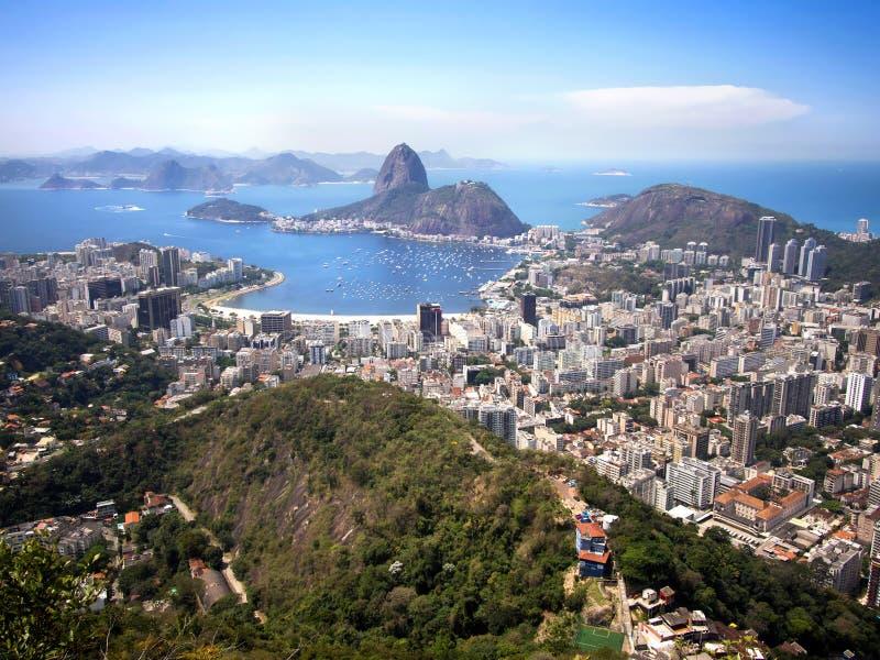 Βουνό φραντζολών ζάχαρης και εικονική παράσταση πόλης Ρίο ντε Τζανέιρο, Βραζιλία στοκ φωτογραφία με δικαίωμα ελεύθερης χρήσης