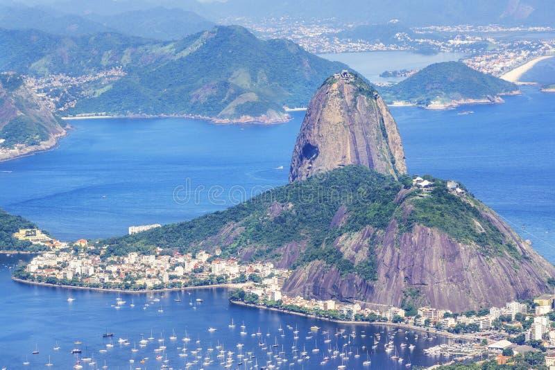 Βουνό φραντζολών ζάχαρης στο Ρίο ντε Τζανέιρο, Βραζιλία στοκ εικόνες με δικαίωμα ελεύθερης χρήσης