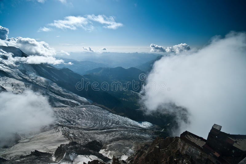 Βουνό Aiguille du Midi στοκ φωτογραφίες με δικαίωμα ελεύθερης χρήσης