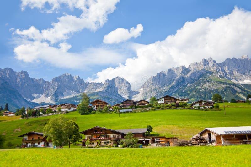Βουνό Kaiser, Ellmau στοκ εικόνες