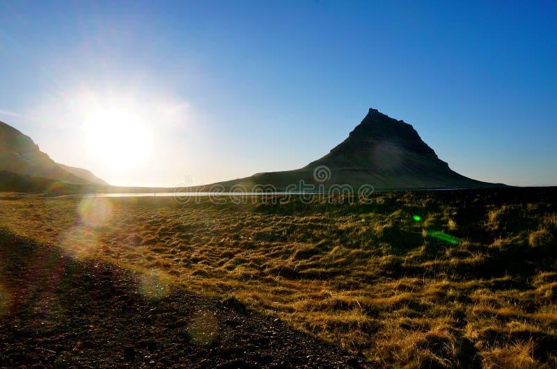 Βουνό Kirkjufell στην Ισλανδία στοκ φωτογραφία με δικαίωμα ελεύθερης χρήσης