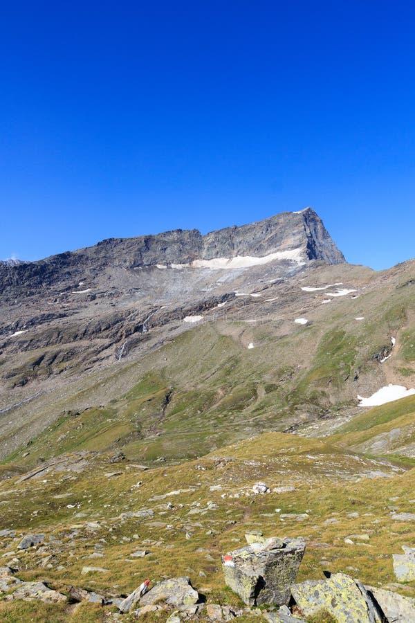 Βουνό Kristallwand, Άλπεις Hohe Tauern, Αυστρία στοκ φωτογραφίες