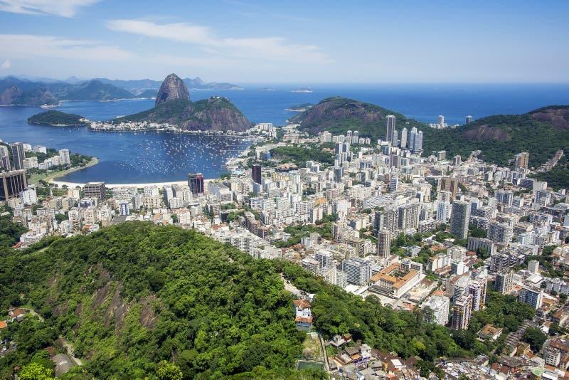 Βουνό Sugarloaf και εικονική παράσταση πόλης Ρίο ντε Τζανέιρο, Βραζιλία στοκ φωτογραφίες με δικαίωμα ελεύθερης χρήσης