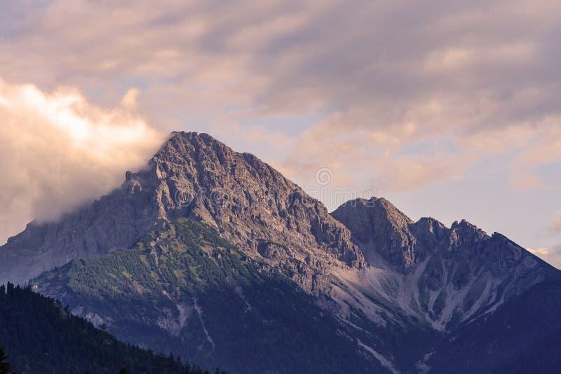 Βουνό Thaneller κοντά σε Heiterwang, Tirol, Αυστρία στοκ φωτογραφία