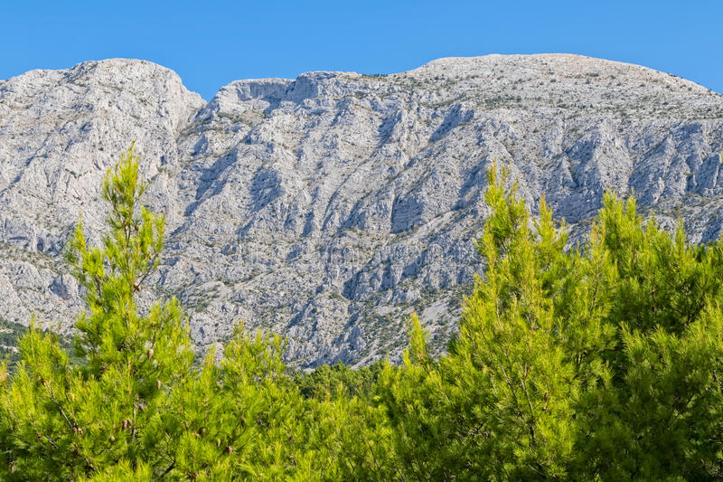 Βουνό Tucepi Biokovo στοκ εικόνα
