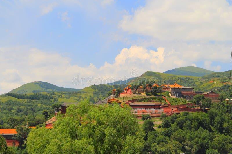 Βουνό Wutai στην επαρχία Shanxi, Κίνα στοκ φωτογραφίες με δικαίωμα ελεύθερης χρήσης