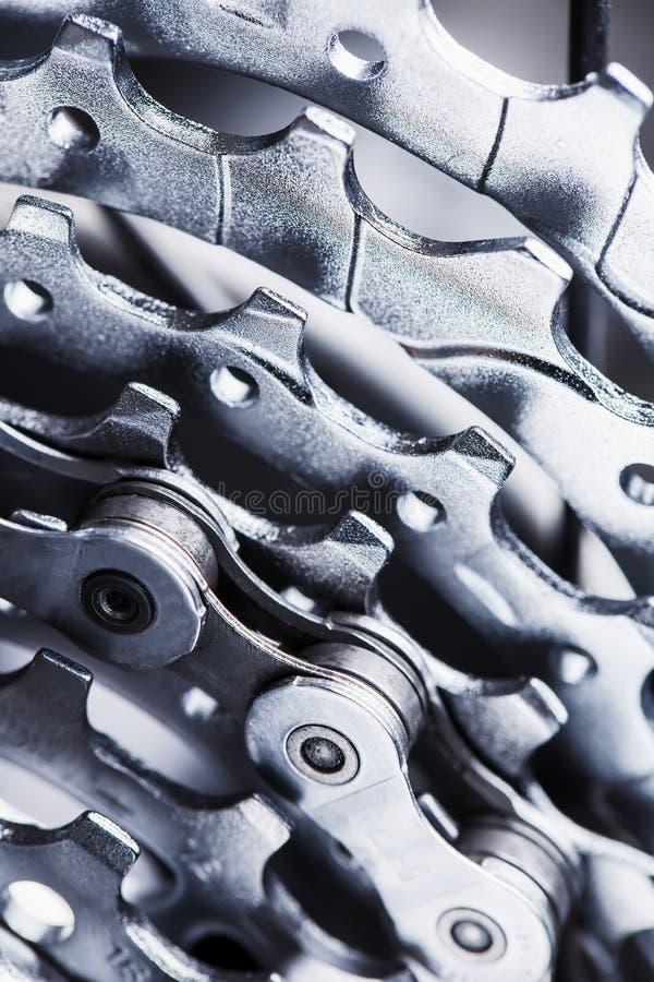 Βουνών μακρο πυροβολισμός κασετών ποδηλάτων οπίσθιος ΚΑΣΕΤΑ ΓΙΑ BIKECARTRIDGE στοκ εικόνες