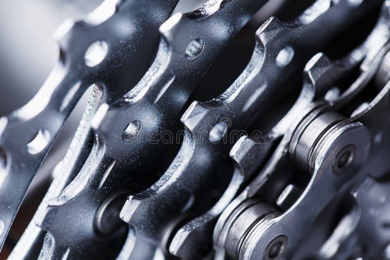 Βουνών μακρο πυροβολισμός κασετών ποδηλάτων οπίσθιος ΚΑΣΕΤΑ ΓΙΑ BIKECARTRIDGE στοκ φωτογραφία με δικαίωμα ελεύθερης χρήσης
