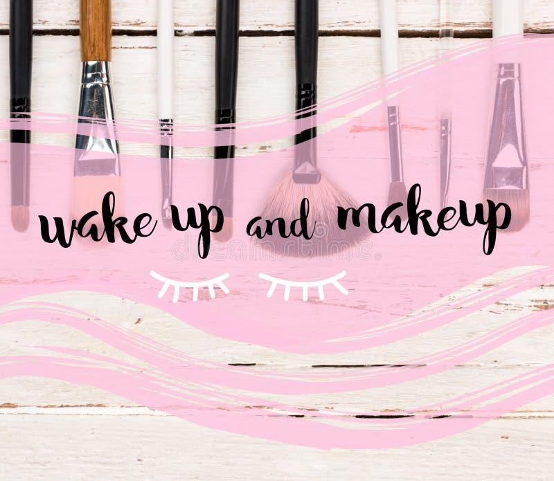 βουρτσίζει makeup διάφορο στοκ εικόνες