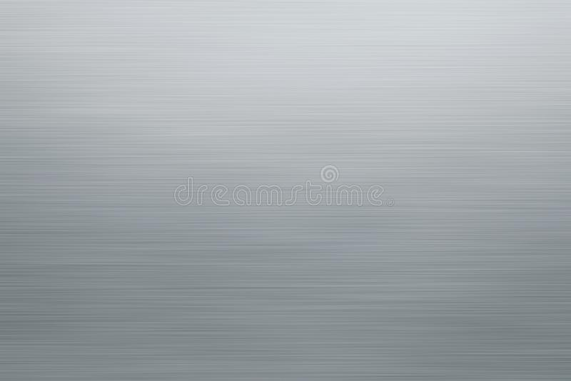 Βουρτσισμένη ασήμι σύσταση μετάλλων ή ανοξείδωτο υπόβαθρο πιάτων διανυσματική απεικόνιση