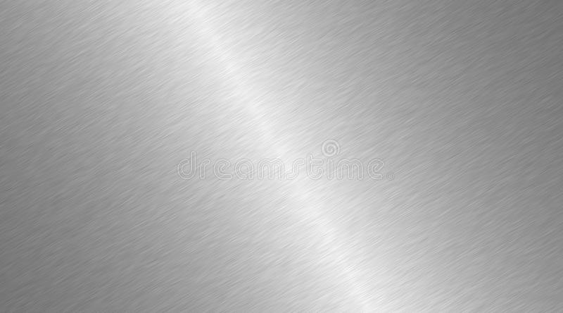 βουρτσισμένη επιφάνεια μ&epsi Ακτινωτή σύσταση του μετάλλου Γυαλισμένο περίληψη υπόβαθρο χάλυβα απεικόνιση αποθεμάτων