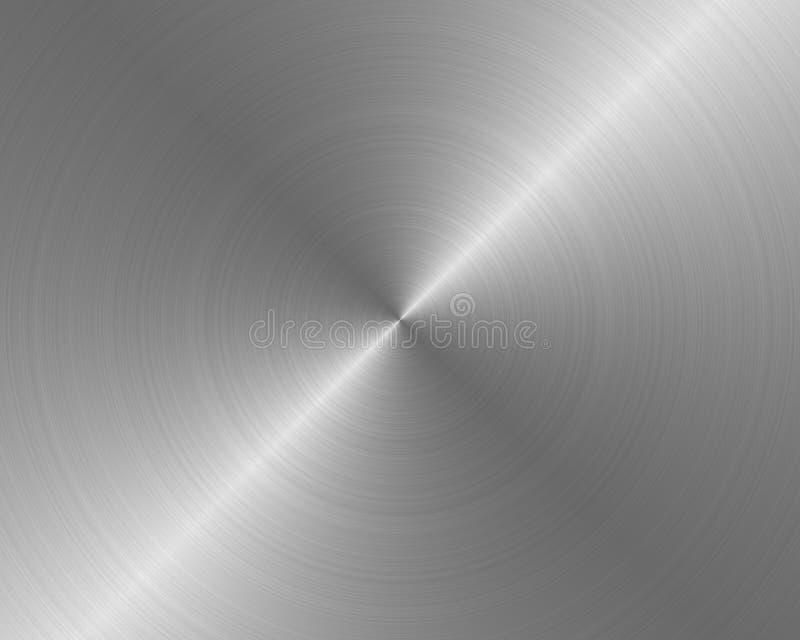 βουρτσισμένη backgrou σύσταση μετάλλων απεικόνιση αποθεμάτων