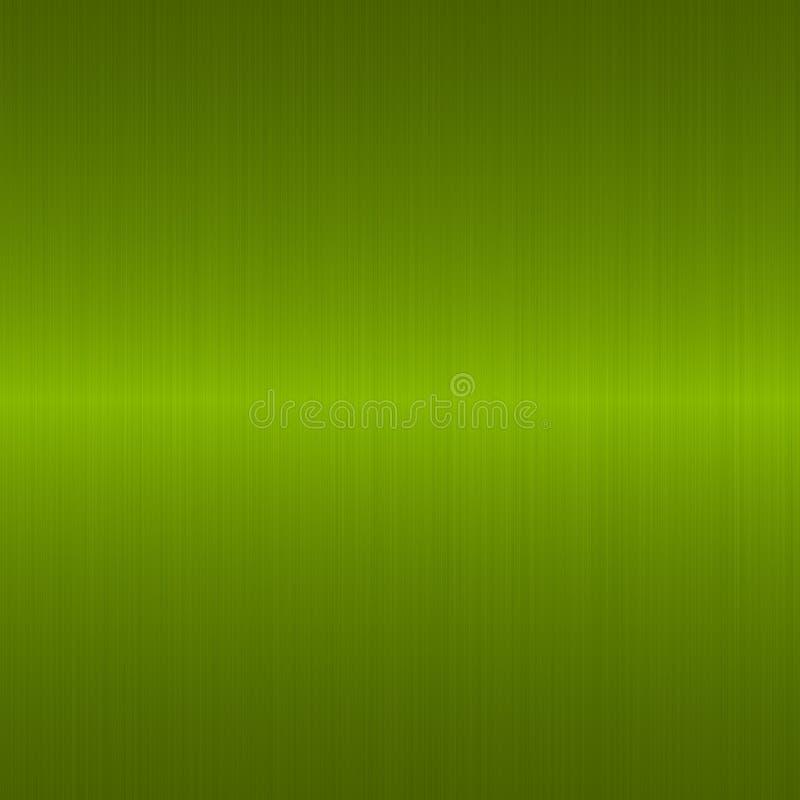 βουρτσισμένος πράσινος μεταλλικός διανυσματική απεικόνιση
