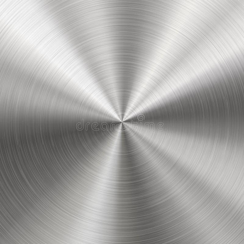 Βουρτσισμένο μέταλλο, ακτινωτή σύσταση διανυσματική απεικόνιση