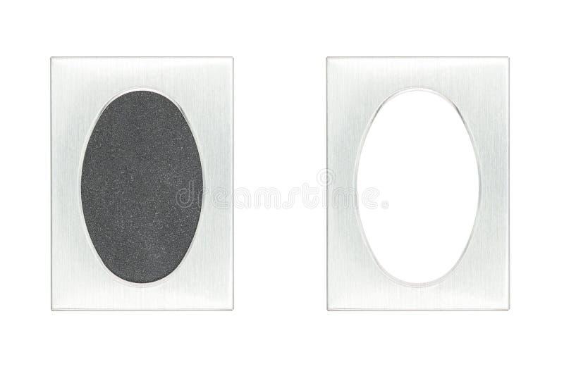 Βουρτσισμένο πλαίσιο εικόνων αλουμινίου passpartout στοκ εικόνες