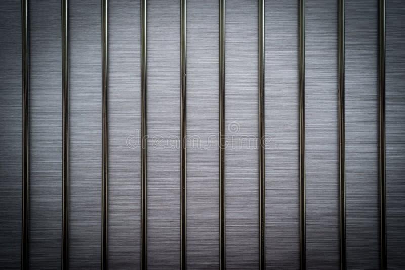 Βουρτσισμένο σύντομο χρονογράφημα φραγμών μετάλλων στοκ φωτογραφία με δικαίωμα ελεύθερης χρήσης
