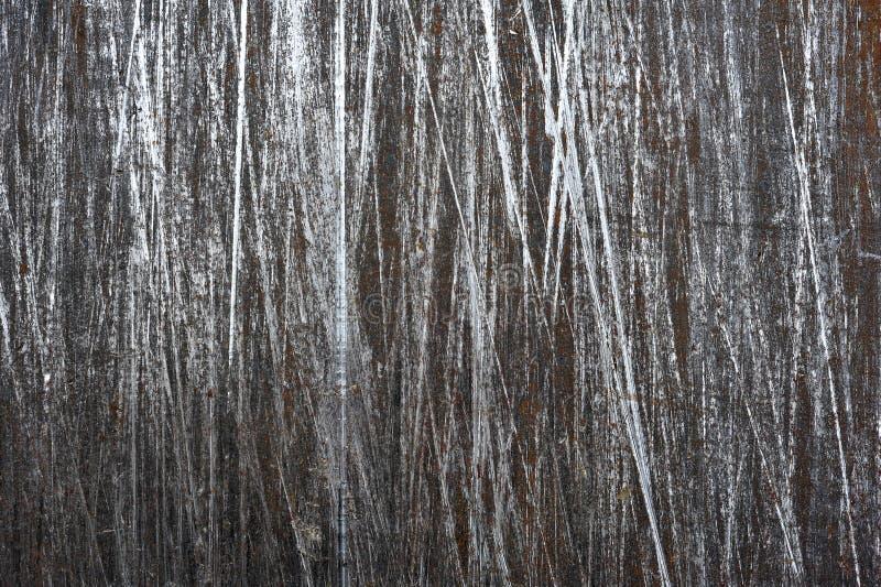 Βουρτσισμένο φύλλο χάλυβα με το υπόβαθρο γρατσουνιών στοκ φωτογραφία με δικαίωμα ελεύθερης χρήσης