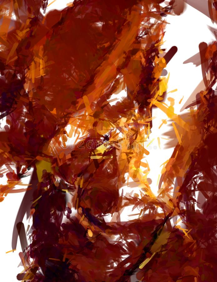Βουρτσισμένο χρωματισμένο αφηρημένο υπόβαθρο Κτυπημένη βούρτσα ζωγραφική Κτυπήματα του χρώματος o απεικόνιση αποθεμάτων