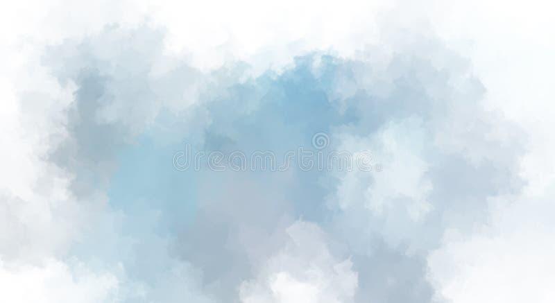 Βουρτσισμένο χρωματισμένο αφηρημένο υπόβαθρο Κτυπημένη βούρτσα ζωγραφική Κτυπήματα του χρώματος αφηρημένη απεικόνιση διανυσματική απεικόνιση