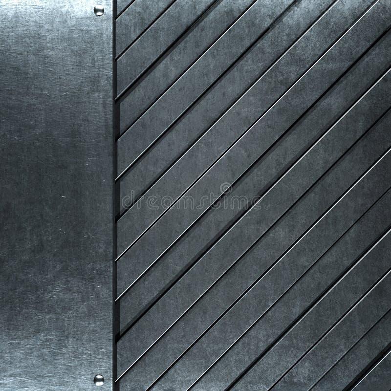 Βουρτσισμένο grunge ασημένιο υπόβαθρο μετάλλων στοκ εικόνες με δικαίωμα ελεύθερης χρήσης