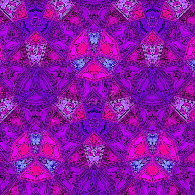 Βουρτσών αφηρημένο υπόβαθρο ιμπρεσσιονιστών χρωμάτων πορφυρό και ιώδες ελεύθερη απεικόνιση δικαιώματος
