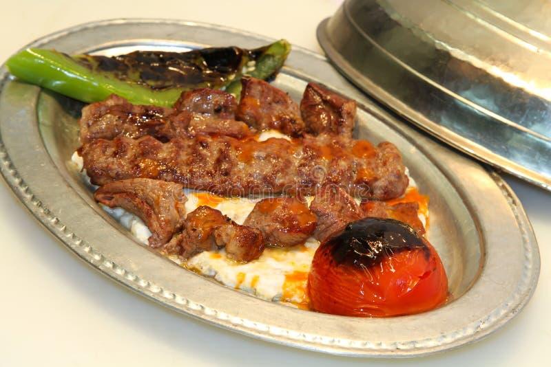 βουτυρώδης Τούρκος iskender kebab στοκ εικόνα με δικαίωμα ελεύθερης χρήσης