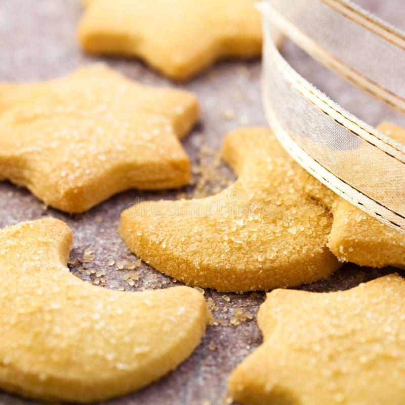 βουτύρου μπισκότα Χριστ&omicr στοκ εικόνες