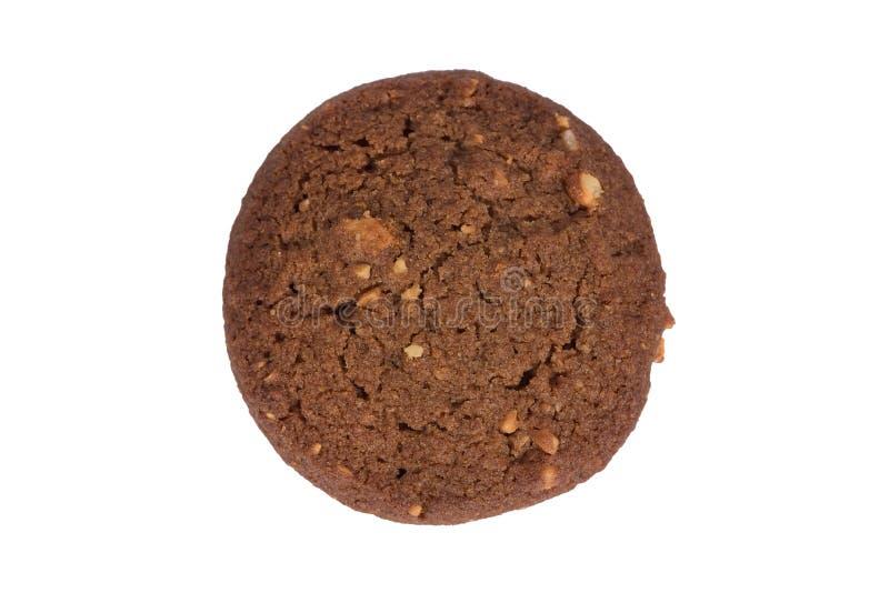 Βουτύρου μπισκότο καρυδιών των δυτικών ανακαρδίων σοκολάτας που απομονώνεται στο άσπρο υπόβαθρο στοκ εικόνα