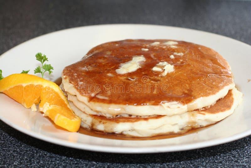 βουτύρου σιρόπι τηγανιτών στοκ εικόνα με δικαίωμα ελεύθερης χρήσης