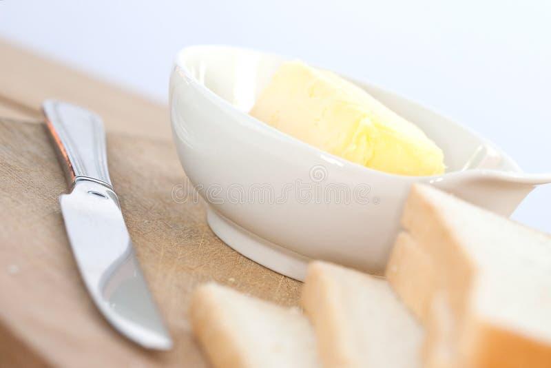 βουτύρου φέτες ψωμιού κύπ&e στοκ εικόνα με δικαίωμα ελεύθερης χρήσης