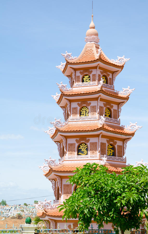 Βουδιστική παγόδα στο Βιετνάμ στοκ εικόνες