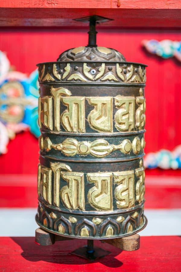 Βουδιστική ρόδα προσευχής, ορδή στοκ εικόνες