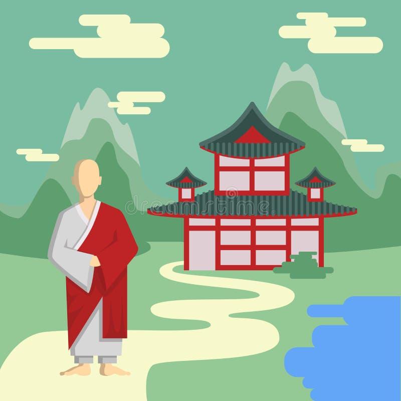 Βουδιστικός ναός, μοναστήρι ελεύθερη απεικόνιση δικαιώματος