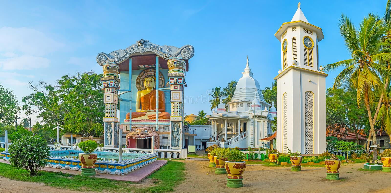 Βουδιστικός ναός Angurukaramulla σε Negombo στοκ φωτογραφίες