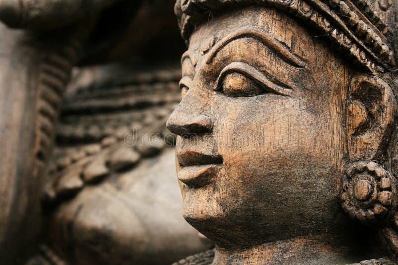Βουδιστικό ξύλινο άγαλμα στοκ φωτογραφίες