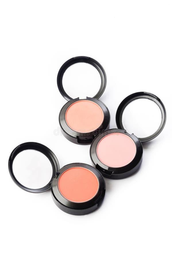 Βούρτσα και σκόνη Makeup στοκ εικόνα με δικαίωμα ελεύθερης χρήσης