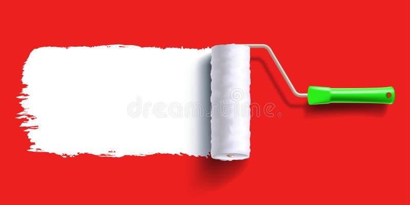 Βούρτσα κυλίνδρων βουρτσών ελεύθερη απεικόνιση δικαιώματος